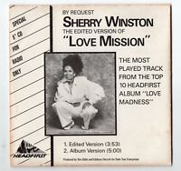 Sherry Winston Promo-CD LOVE MISSION 1989 USA by PDO 2-track very rare Funk Soul