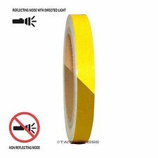 "1 Roll Yellow 1/2"" x 30 feet Reflective Engineering Grade Tape Pinstripe"