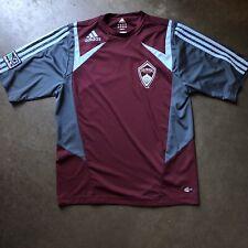 Men's Adidas Clima365 Colorado Rapids Maroon Gray Blue Home Jersey Kit Sz Small