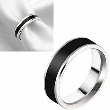 50 wedding enamel Stainless steel Rings men women band Jewelry lots