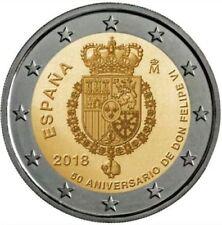 2 Euros Conmemorativos ESPAÑA 2018 Aniversario Felipe VI - SIN CIRCULAR
