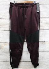 Modern Culture Mens Medium Burgudy Knit Polyester Fleece Moto Jogger Pants New