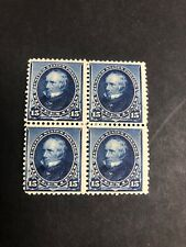 227 Block Of 4 Mint Lightly Hinged On All 4 Stamps Great Color