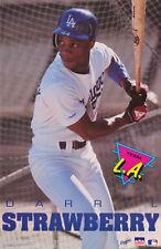 POSTER: MLB BASEBALL : DARRYL STRAWBERRY - LA DODGERS -  FREE SHIPPING ! RW15 A