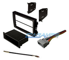 NEW CAR STEREO INSTALL KIT DASH TRIM BEZEL WITH ANTENNA ADAPTER & WIRING HARNESS