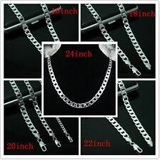 Low price Wholesale Men's Heavy 925Solid Silver Thick Boy Chain Necklace+Box