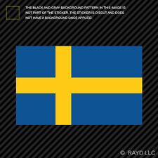 "4"" Swedish Flag Sticker Decal Adhesive Vinyl sweden scandinavian kingdom"