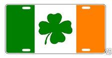 IRISH FLAG IRELAND PRIDE CLOVER LICENSE PLATE AUTO TAG