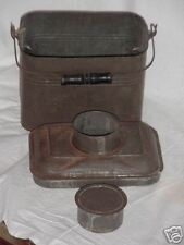 Vintage Metal Lunch Box and Canteen