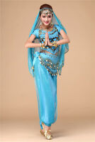 2020 Belly Dance Costumes India Dance Outfit Halloween Top Pants Hip scarf Veil
