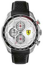Scuderia Ferrari | Men's Speed-Racer | Black Leather 0830651 Watch