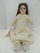 Antique German Germany Bisque Head Doll with Leather body