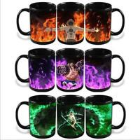 One Piece Luffy Ace Zoro Mug Magic cup Heat Reactive Color Change Tea Coffee Cup