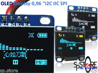 "0.96"" I2C IIC SPI 128X64 OLED LCD LED Display Module for Arduino BLUE SSD1306"
