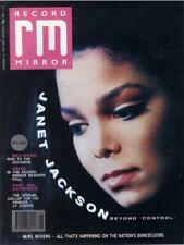 Record Mirror Janet Jackson UK magazine 18 NOVEMBER 1989 1989
