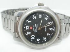 Gents Swiss Military Watch by Chrono perfect working order new recent battery.