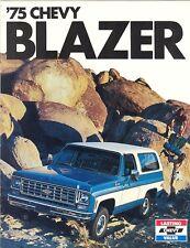 1975 Chevrolet Blazer Truck Brochure 2-WD/4-WD+++
