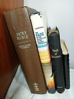 4 Vtg LDS Books 1944 Book of Mormon 1983 Bible 1952 Prosecutors '90 Missionaries