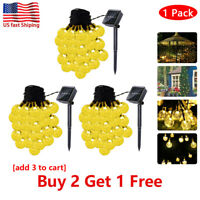 6.5M Solar Powered 30 LED String Light Garden Path Yard Decor Lamp Outdoor EB