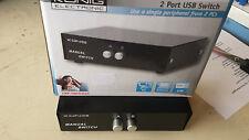 USB 2-fach Umschalter manuell KÖNIG für alle Anwendungen