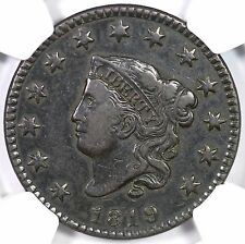 1819 N-5 R-3 NGC VF 35 Small Date Matron or Coronet Head Large Cent Coin 1c