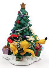 NEW Disney Parks Reindeer Pluto Christmas Tree Santa Glitter Figurine