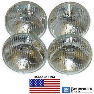 1968-1971 GM Cars T-3 / T3 Headlamp / Light Set of 4 bulbs   68-71   guide bulb