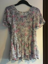 Primark Floral Peplum Blouse Size 10