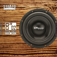 "CT Sounds Strato 8"" D2 300W RMS 8 Inch Dual 2 Ohm Car Subwoofer Audio Power Sub"
