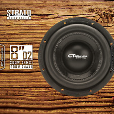 """CT Sounds Strato 8"""" D2 300W RMS 8 Inch Dual 2 Ohm Car Subwoofer Audio Power Sub"""