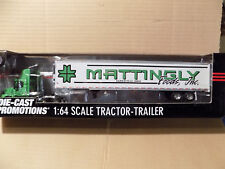 DCP MATTINGLY FOODS VOLVO DAY CAB W REEFER TRAILER 1/64