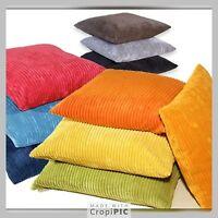 "Plain Cushion Covers 18"" 20"" 22"" 24"" 26"" 28""  All Colours UK stock Cord Fabric"