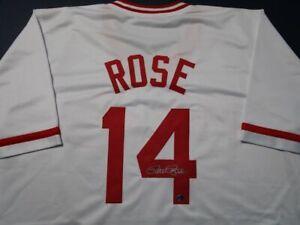 Pete Rose of the Cincinnati Reds signed autographed baseball jersey  COA 552