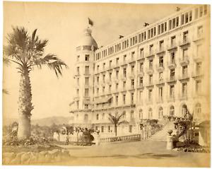 France, Nice, hôtel Régina Vintage albumen print, Tirage albuminé  20x25
