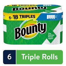 Bounty Select-A-Size Paper Towels, White, 6 Triple Rolls + FREE SHIPPING
