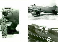 3 - LOT #27  B&W 4X6 PHOTOGRAPHS - Q.E.D. - BULLDOG -RACING AIRPLANES & AVIATION