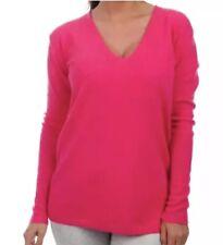 LUX 100% pure cashmere JIL SANDER pink v-neck jumper size 40
