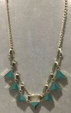 COOKIE LEE NECKLACE GREEN STONES WITH GOLD CHAIN NWT