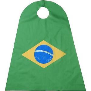 New Licensed Brazil Flag Cape Adult Size Olympics Soccer Last Ones! ____B50