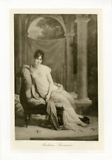 """""""GERARD : MADAME RECAMIER """" Phototypie originale BRAUN CLEMENT & Cie 1890"""