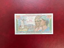 La Réunion Billet France 10 NF sur 500 Francs 1971  Alph G.1 Très Bel Exemplaire