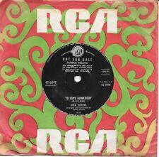 "NINA SIMONE - TO LOVE SOMEBODY (BEE GEES) - RARE 7"" 45 SAMPLE VINYL RECORD 1969"