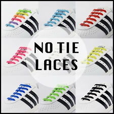Lazy no tie elastic silicone shoe lace For Adults & Kids Trainers Shoes