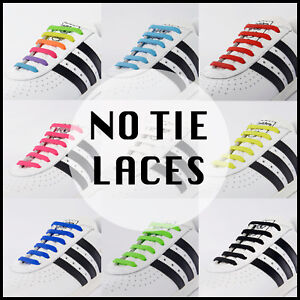 RECKNEY Lazy no tie elastic silicone shoe lace For Adults & Kids Trainers Shoes