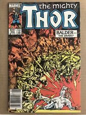 (2) THE MIGHTY THOR #344 MARVEL COMIC LOT Balder 1984