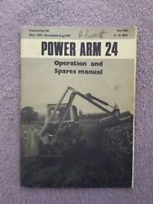 McCONNEL POWER ARM 24 HEDGECUTTER PARTS & OPERATORS MANUAL