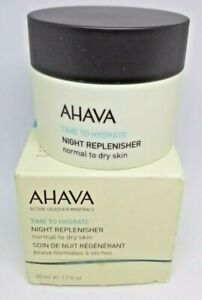AHAVA Time To Hydrate Night Replenisher  Normal to Dry Skin, 1.7 fl. oz NIB