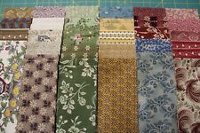 """(58) OLD STURBRIDGE VILLAGE REPRODUCTION JELLY ROLL 2.5"""" x 44"""" STRIPS BY MARCUS"""