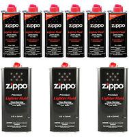 Zippo Premium Lighter Fluid For Zippo Lighters Pack Of (6x 4 OZ & 3X 12 OZ) Cans