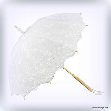 Von Lilienfeld Hochzeit Schirm Sonne Isabella weiß white umbrella wedding lace
